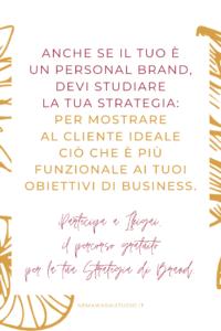 personal brand strategia marchio studio logo