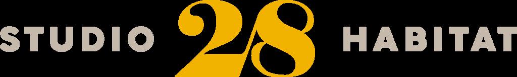 Logotipo Studio28Habitat logo marchio progettazione brand design