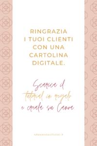 brand comunicazione online checklist canva thank you card cartoline