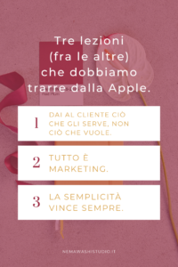 lezioni di marketing brand branding da apple nemawashi studio steve jobs citazioni
