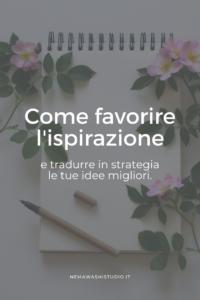 quaderno idee ispirazione business freelance planning